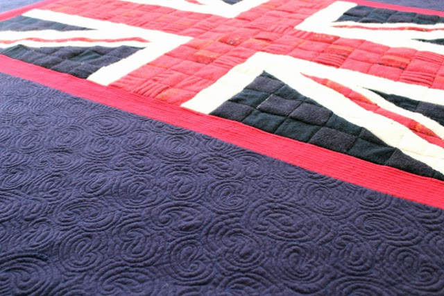 Union Jack Recycled Sweater Memory Quilt